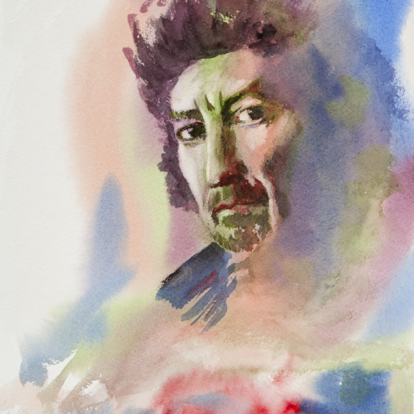 BAD GEORGE ~ Portrait of George Harrison by Australian rock legend, Jim Keays.